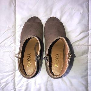 XOXO Shoes - XOXO Taupe Peep-Toe Ankle Booties